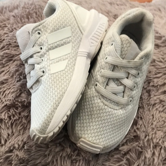 outlet store 4a18b 81752 ADIDAS ZX FLUX triple white toddler 7K